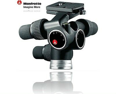 Manfrotto 405 Pro Digital Geared Head (Quick Release) Supports 16.5 lbs - 7.5kg