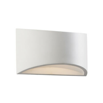 Saxby Toko White Plaster Paintable Curved Decorative Up Down LED Wall Wash Light