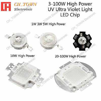 High Power 3w 5w 10w 20w 30w 50w 100w UV Ultra Violet SMD LED COB Chip Light USA