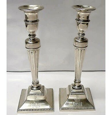 Pair of Victorian Cast Silver Candlesticks 1895 Goldsmiths&Silversmiths Ltd 6802