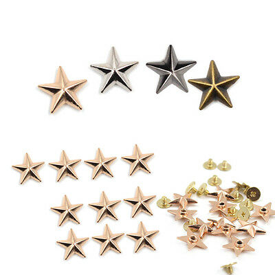 10 Pcs Pentagram Rivets Screws DIY Clothing Hat Bags Leathercraft Supplies