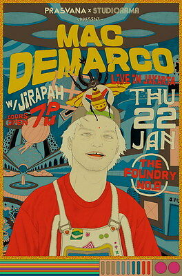 "MX16650 Mac DeMarco - Canadian Pop Singer Songwriter Music Star 14""x21"" Poster"