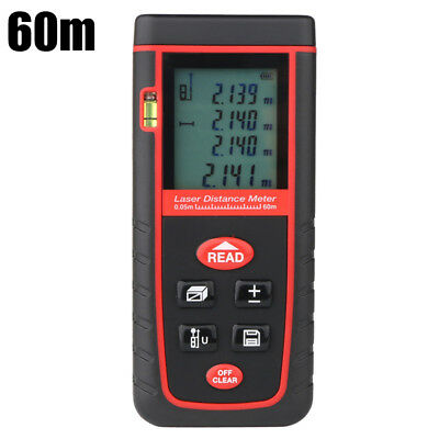 Handheld Digital Laser Point Distance Meter Measure Tape Range Finder 60m/197ft