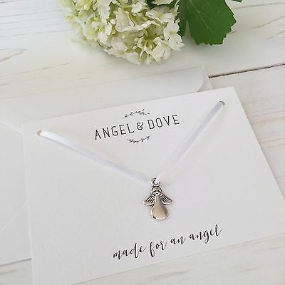 'Made for an Angel' Silver Charm Sympathy Gift Card - Miscarriage, Baby Loss
