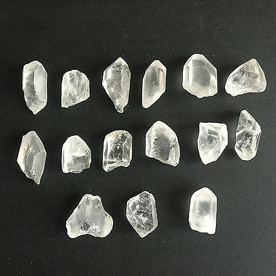 315 Ct Natural Rock Crystal Quartz Rough Points Raw Colorless White Gems Loose