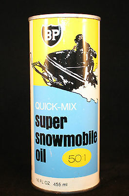 Vintage Canadian BP British Petroleum Oil Tin Can Ski-Doo FREE SHIPPING