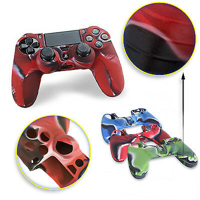 Custodia Silicone Controller Per Sony Playstation 4 Ps4 Joystick Cover Rosso