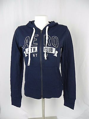 NEW Aeropostale Navy Blue Ath. Club Full Zip Light Sweatshirt Hoodie (A1-3)