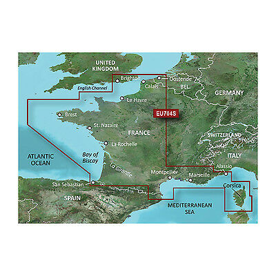 BlueChart g2 Vision Garmin VEU704L - France micro/SD card
