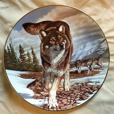 The Hamilton Collection - Year of the Wolf - Leader of the Pack Collector Plate