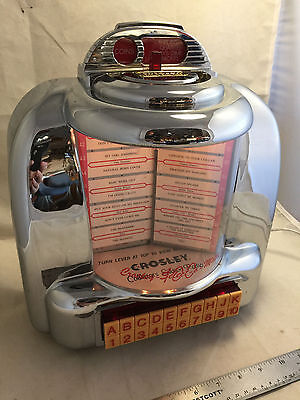 Crosley Limited Edition Jukebox CR-9 AM/FM Radio Lighted Table or Wall Mount
