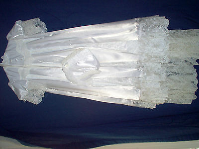 Beautiful Victorian Dress For Large Doll.infant Christening Dress With Hat
