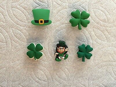 St.patrick's Day Shoe Charms Fit Crocs Mardi Gras Shoe Charm 4-Leaf Clover Charm