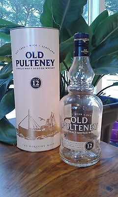 Empty Old Pulteney aged 12 years Bottle and Box  Single Malt Scotch Whisky