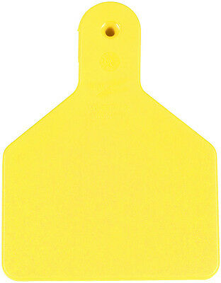 25 ct Yellow No-Snag Blank Calf ID Ear Tags