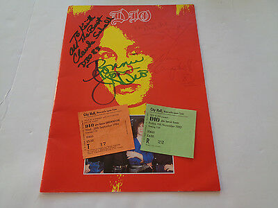 Dio Autograph 1983 Signed Tour Programme And Two Ticket Stubs