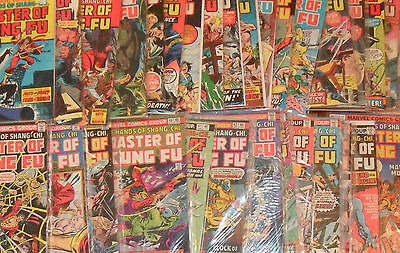 HUGE Shang-Chi Master of Kung Fu MARVEL Bronze Age LOT Giant-Size Paul GULACY
