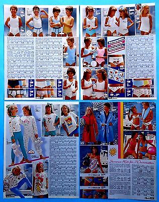 Boys Girls Underwear Pajamas Clothes Catalog  Clippings 1986 Ad print 15 pages
