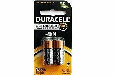 2 Pack - 2x N Duracell 1.5V Alkaline Batteries (Medical, LR1, E90, MN9100)
