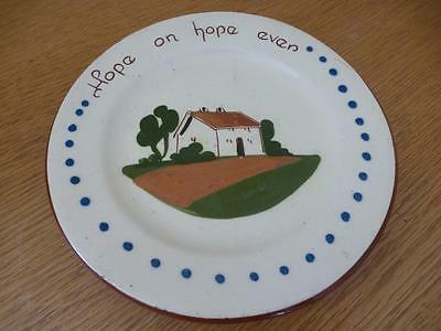 Vintage Dartmouth Pottery Motto Ware Plate Hope on hope ever