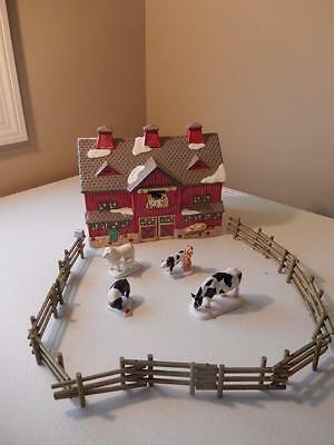 Department 56 - Red Barn #50814 PLUS Fence & Animals (FREE SHIPPING)