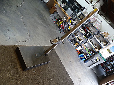 """Granite Inspection Table Microscope Base 12X8, 25 1/2"""" Tall Pole"""