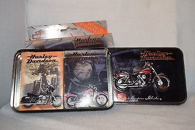 Harley Davidson Playing cards with tin