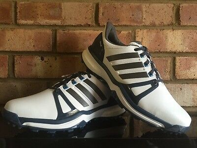 Adidas Adipower Boost 2 Men's Golf Shoes Clearance WHT/NAVY Q44661 UK 7M