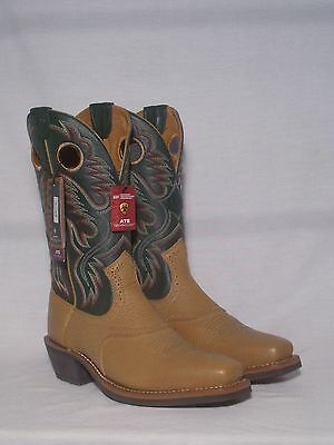 New Ariat Heritage Roughstock Mens Tan Western Boots Size 8.5D