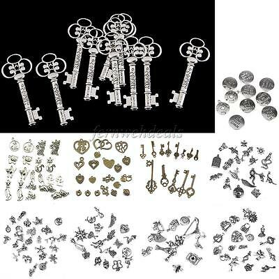 Antique Silver Gold Tibetan Charms/Pendants Vintage Steampunk Jewelry DIY Craft