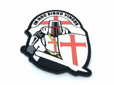 Crusader 'In Hoc Signo Vinces ' Knights Templar PVC Morale Patch
