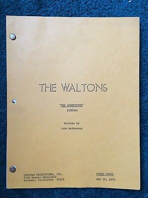 """THE WALTONS-1973 Episode """"The Substitute """"-Signed By Cast!-ORIG. SCRIPT+ More!"""