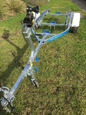 Precision boat trailer 4.3 mt total length galvanised suit duck punt SALE