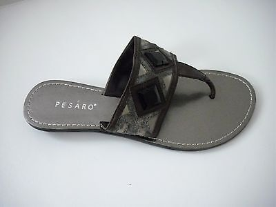 Wholeslae  Lot Of (7) Pair Of Beautiful Women's Sandals In Pewter Us Sizes (6-9)
