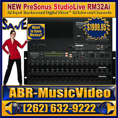 NEW PreSonus StudioLive RM32AI 32 Channel Rack Mount Digital Mixer