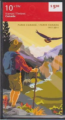 2011  Canada SC# BK455 Parks Canada - pane of 10 M-NH