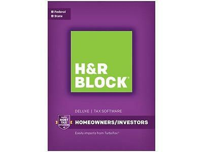 H&R BLOCK Tax Software Deluxe + State 2016 ~ Fast Free Shipping