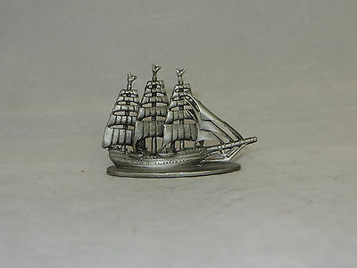 """""""pirate Clipper Ship"""" Spoontiques Pewter Miniature - S 703 - 1979 - Mint"""