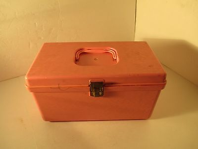 Vintage sewing Craft box ~ thread, needles & accessories Mixed lot ~