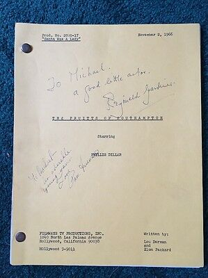 THE PRUITTS Of SOUTHAMPTON-1966ORIGINAL SCRIPT-signed-Not Reproduction