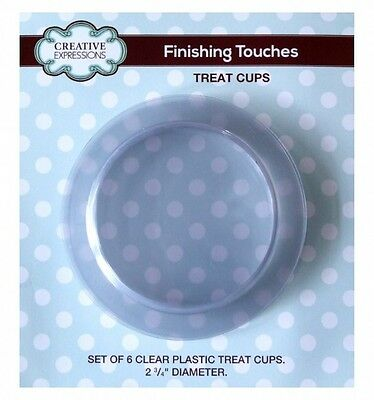 """Creative Expressions FINISHING TOUCHES 6 x Plastic Treat Cups 2.75"""" Diameter"""