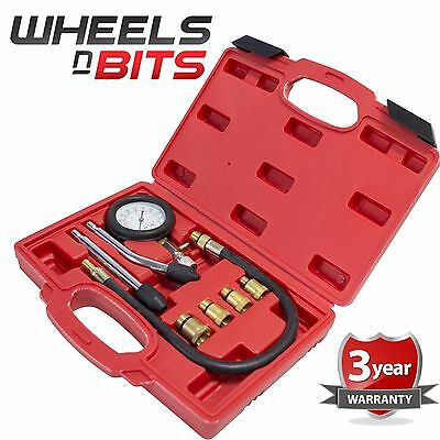 New Automotive Petrol Engine Compression Tester Test Kit Gauge Car Motorcycle