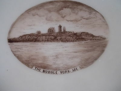 Souvenir Plate - THE NUBBLE, YORK MAINE