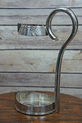 Antique 1900's WH William Hutton & Sons? Silver Plated Wine Bottle Holder/Pourer