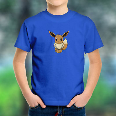 ef8bb4d8 Eevee Cute Normal Type Pokemon Video Game Anime Go Kids Boys Youth Tee T -Shirt