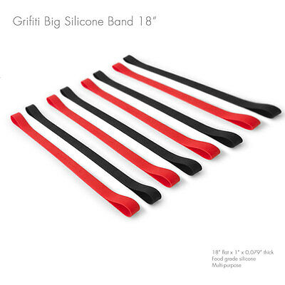 Grifiti Band Joes 18 Inch 8 Pack Tough Silicone Replaces Rubber or Elastic Bands