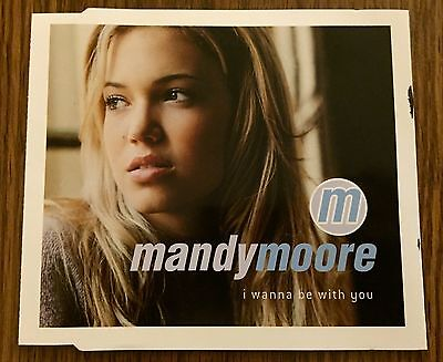MINT CONDITION Mandy Moore UK I WANNA BE WITH YOU CD Sony Promo Single 3 Track