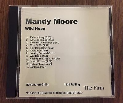 MINT CONDITION Mandy Moore US WILD HOPE CD The Firm Promo 12 Track