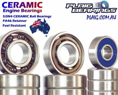 Nitro Engine Bearings - MX Precision High Speed Si3N4 Hybrid Ceramics & Steel