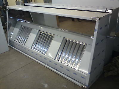Commercial Kitchen Extraction Canopy / Hood 430ba s/steel 8ft (2.5m)